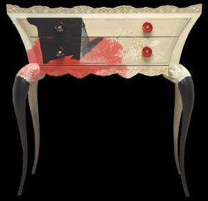 """Madame Monsieur"" - Une console peinte signée Geneviève Naudin 2011"